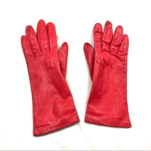 Grandoe | Red Leather Gloves